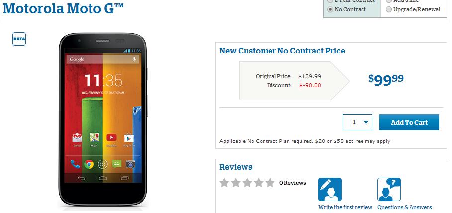 U.S. Cellular Offers Motorola Moto G
