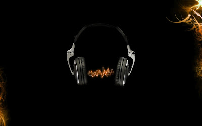 Orange headphones music wallpapers
