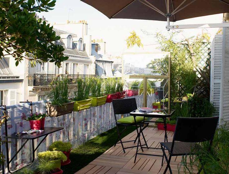 HOME & GARDEN: 50 idées pour profiter de son balcon à l'abri des ...