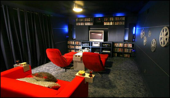 Themed Home Theater Room