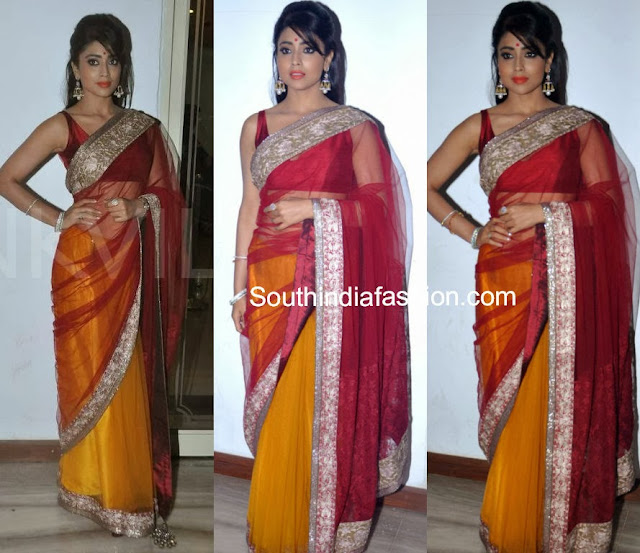 shriya in manish malhotra saree