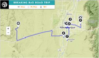 Mapa escenarios Breaking Bad