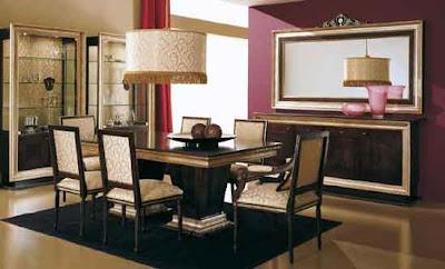 contoh ruang makan dan furniture