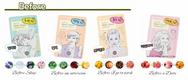 Holika Holika Before sheet masks