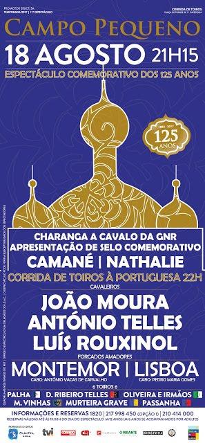 CAMPO PEQUENO (LISBOA) 18-08-2017. CORRIDA A PORTUGUESA.
