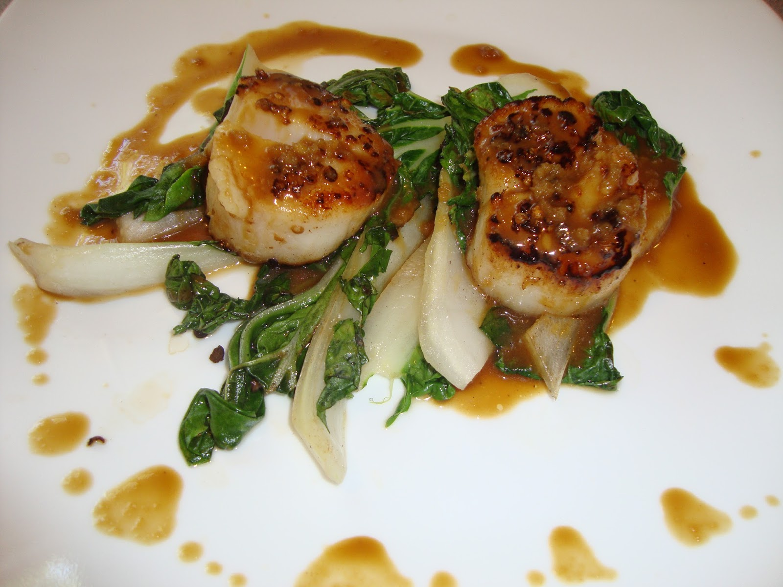 Seared Coriander Scallops With Bok Choy And Hoisin Recipe ...