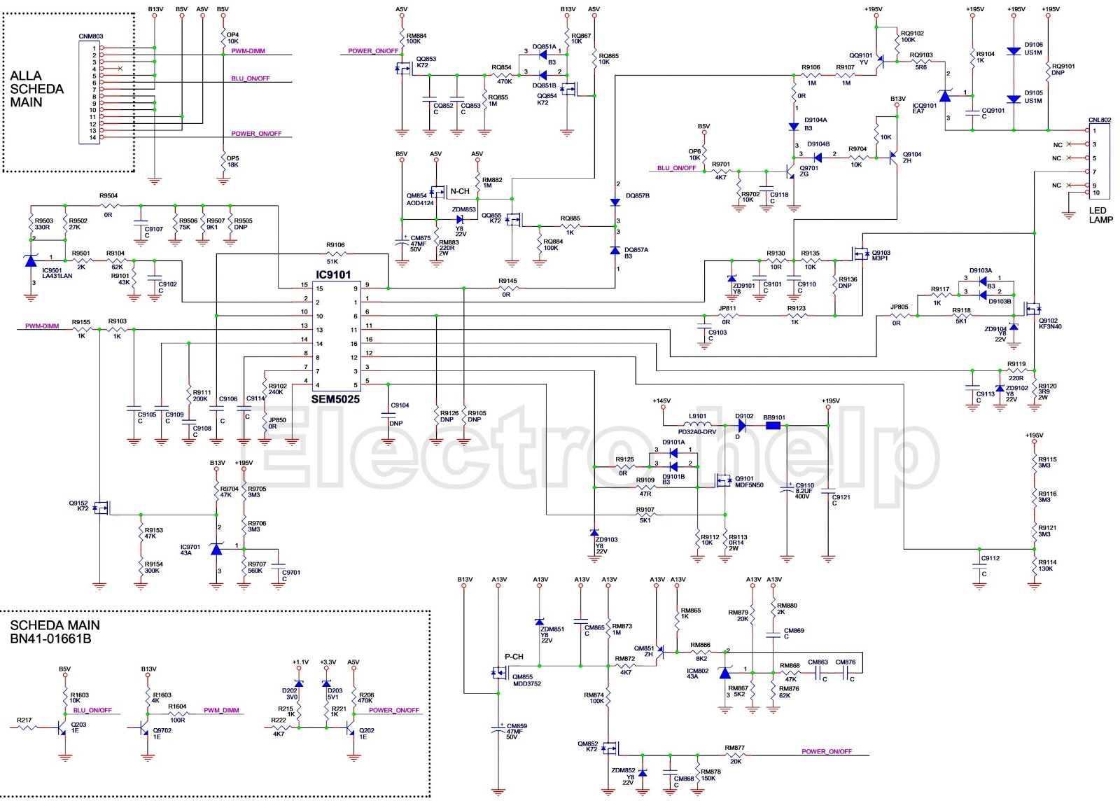 samsung bn 44 00421a power supply circuit diagram tv samsung circuit diagram schematic