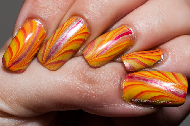Water marble flame