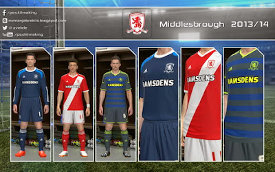 PES 2014 Middlesbrough 2014/15 GDB Kits by Nemanja