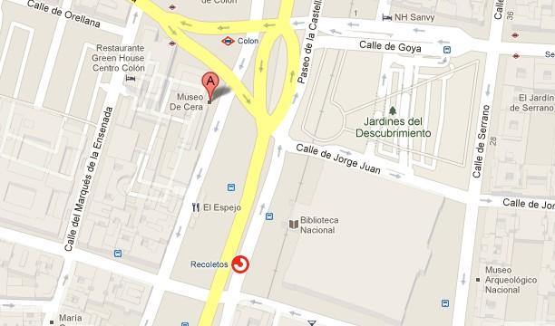 Museo de Cera de Madrid Mapa