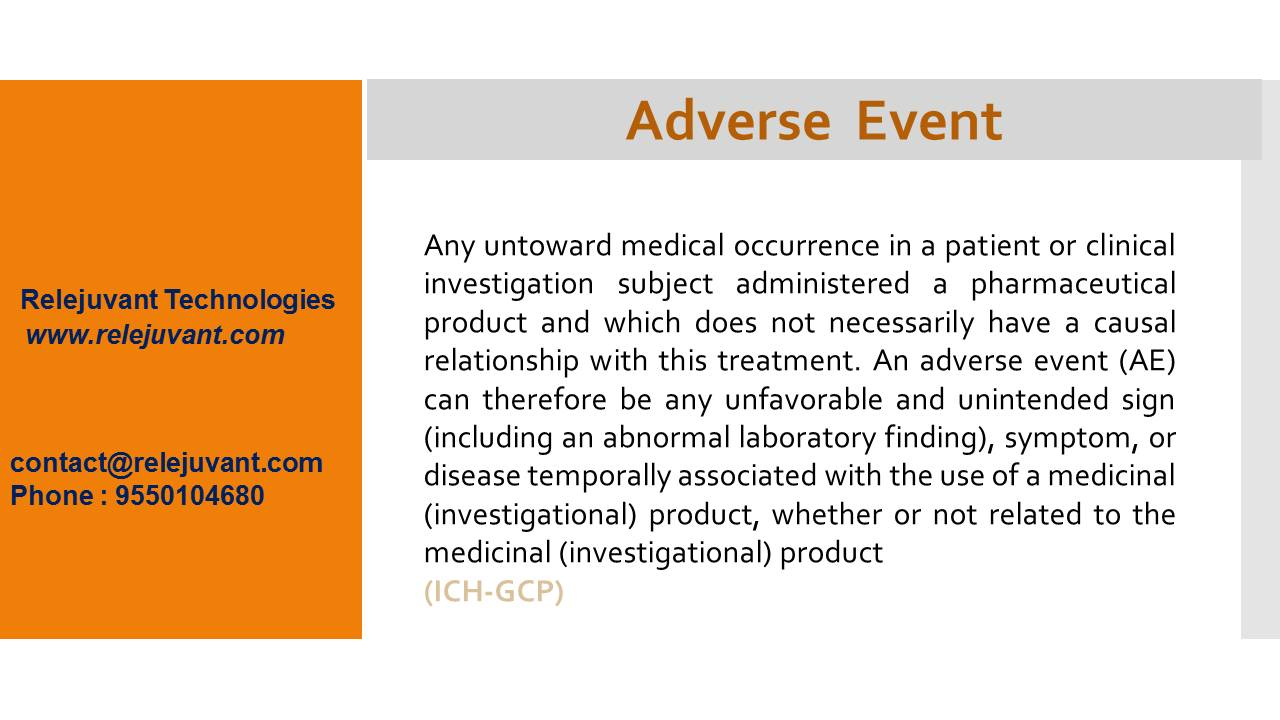definition of adverse event | relejuvant clinical services