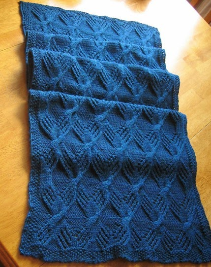 Cable Knit Throw - Free Pattern