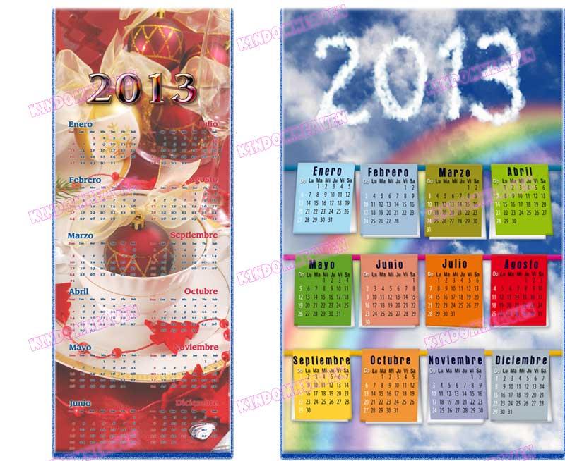 calendarios psd 2013 para imprimir png romantico poster nubes rosas flores