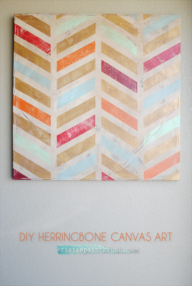 I Should Be Mopping The Floor Diy Herringbone Canvas Art