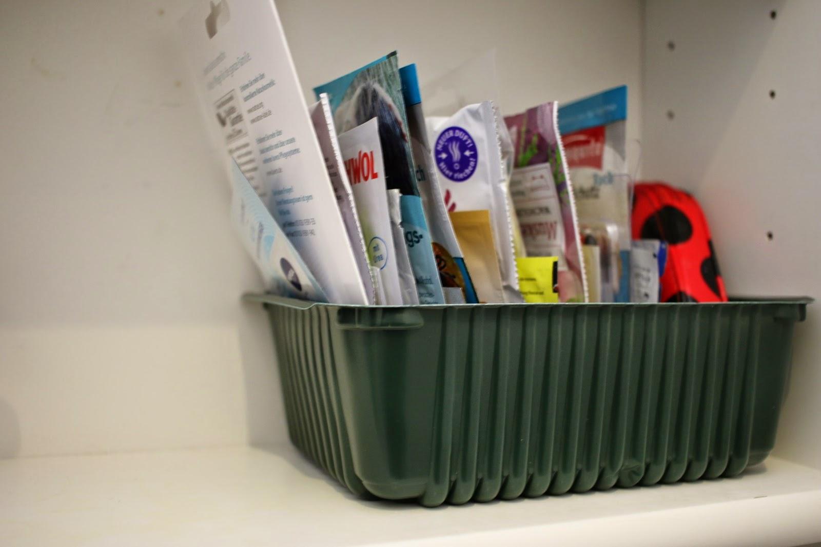 Kartoffelkörbchen im Badezimmerschrank / Potato box in bathroom cabinet / Upcycling