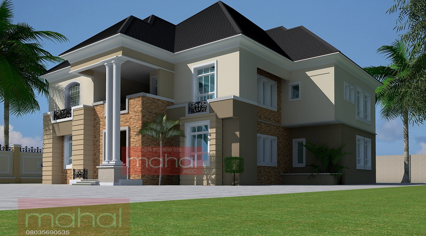 Contemporary nigerian residential architecture 6 bedroom for Nigerian architectural designs