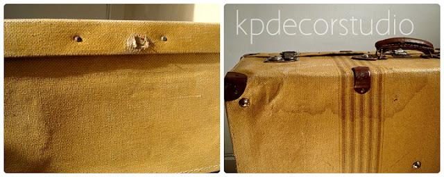 Decorando con maletas vintage de segunda mano, viejas y decorativas.