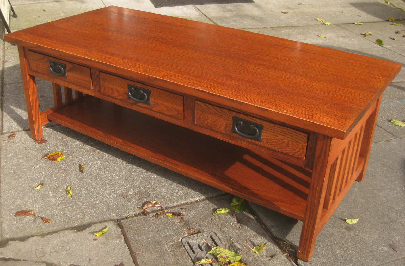 Uhuru Furniture Collectibles Sold Mission Oak Coffee Table 90