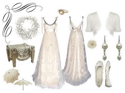 Bridal bubbly inspired by regency england for Regency style wedding dress