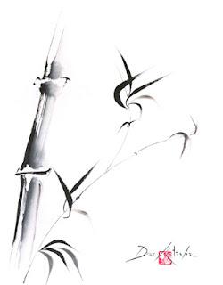 Bamboo Startup Painting by Drue Kataoka