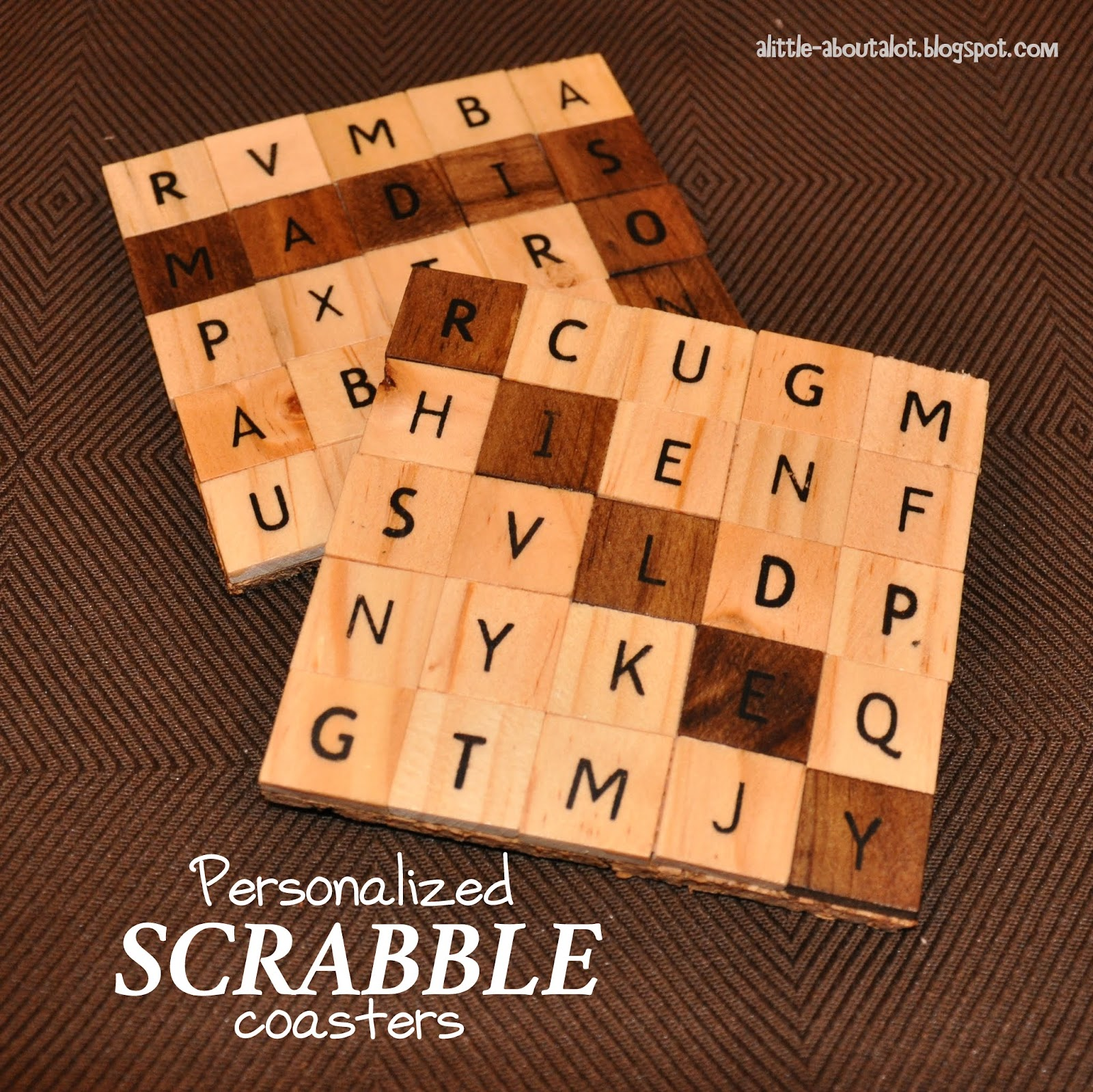 http://alittle-aboutalot.blogspot.com/2014/01/personalized-scrabble-coasters.html