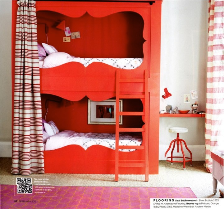 Knight moves cute bunk beds more from british homes for Cute bunk bed rooms