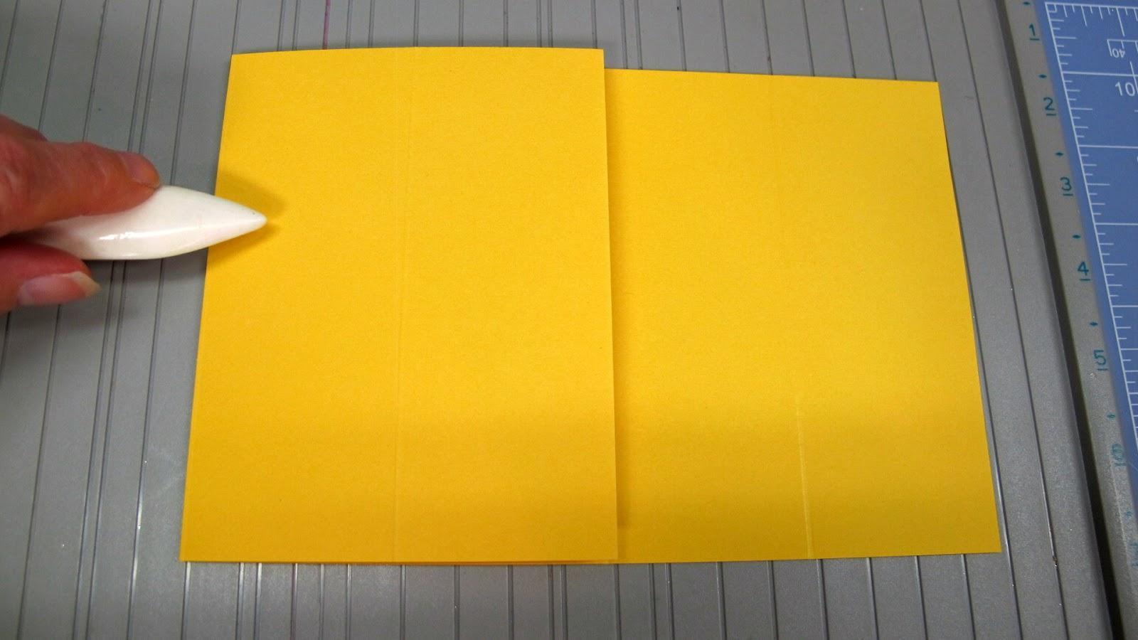 double z fold card instructions