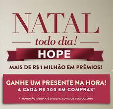 """Promoção: """"Natal Todo Dia HOPE"""""""