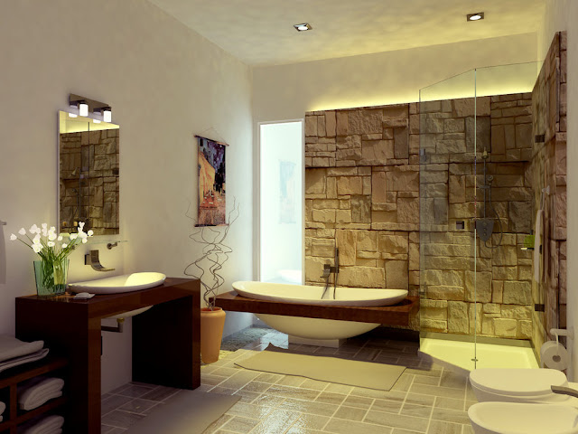 Salle De Bain Japonaise Bois : Zen Spa Bathroom Design Ideas