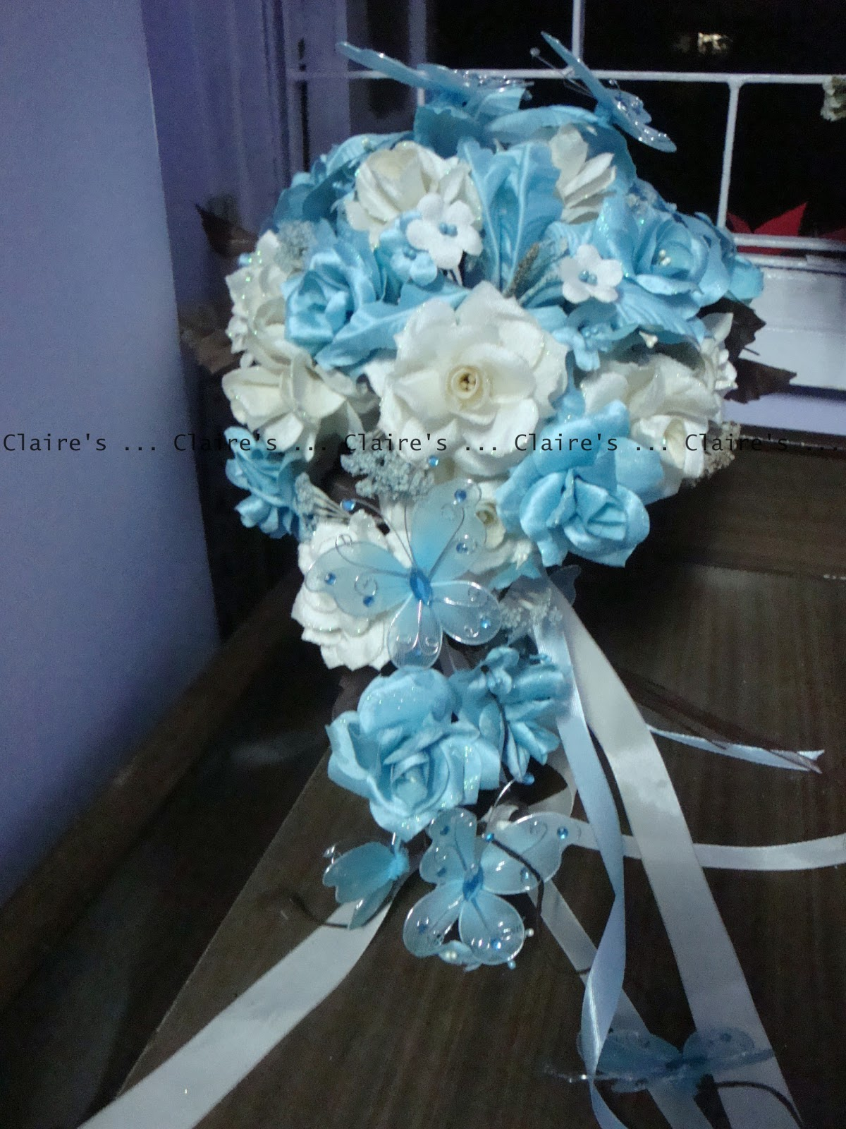 Blue Brown Wedding Bouquets : Claire s party supplies a brown and blue wedding