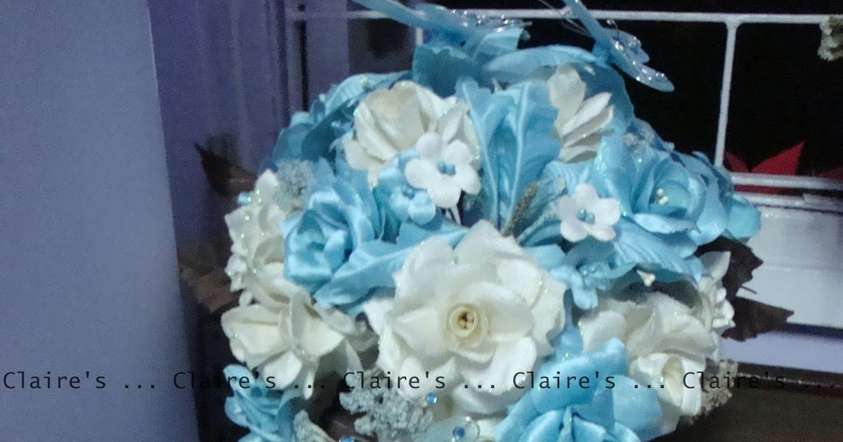 Bridal Bouquet In Mumbai : Claire s party supplies a brown and blue wedding