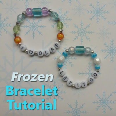Frozen bracelet craft tutorial