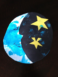 Toddler creation unit for Moon and stars crafts