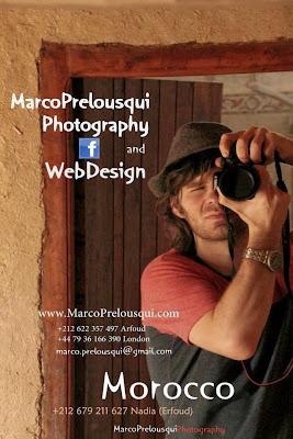 Site web design / Photographie Marco Prelousqui Erfoud Maroc