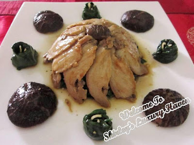 chinese new year, abalone recipe, mushrooms