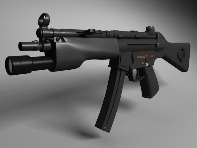 Senapan MK MP5 A4 Kopassus