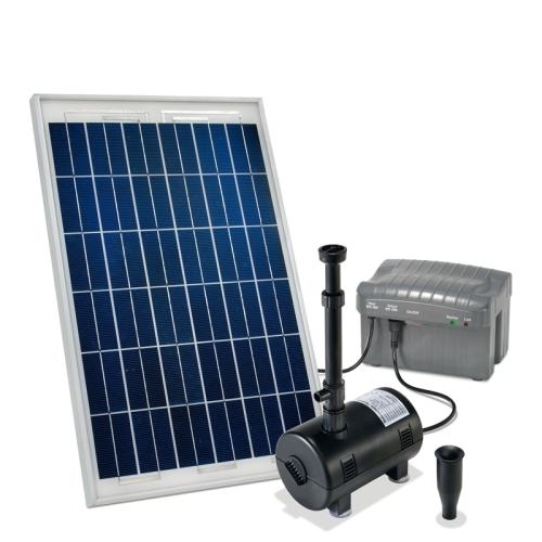 Jard n solar bombas solares para cascadas de agua for Kit estanque jardin