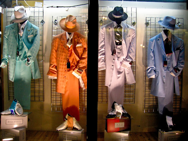 Fancy suits in a window display in downtown Milwaukee, Wisconsin.