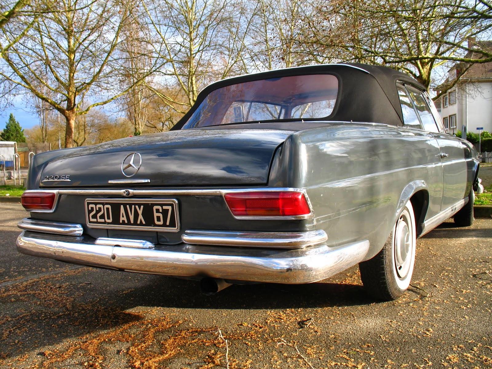 1959 1965 mercedes benz w111 220 se convertible france for Mercedes benz france