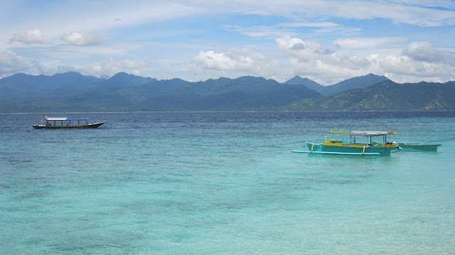 Aguas de Gili Islands, junto a Bali.