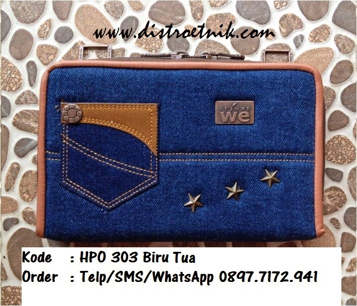 dompet jeans it jus we hpo 303 series biru tua