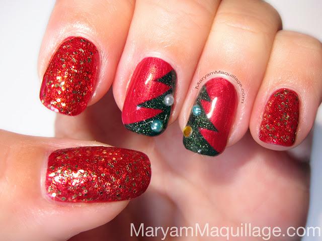 Maryam Maquillage Tree Lighting Christmas Nail Art
