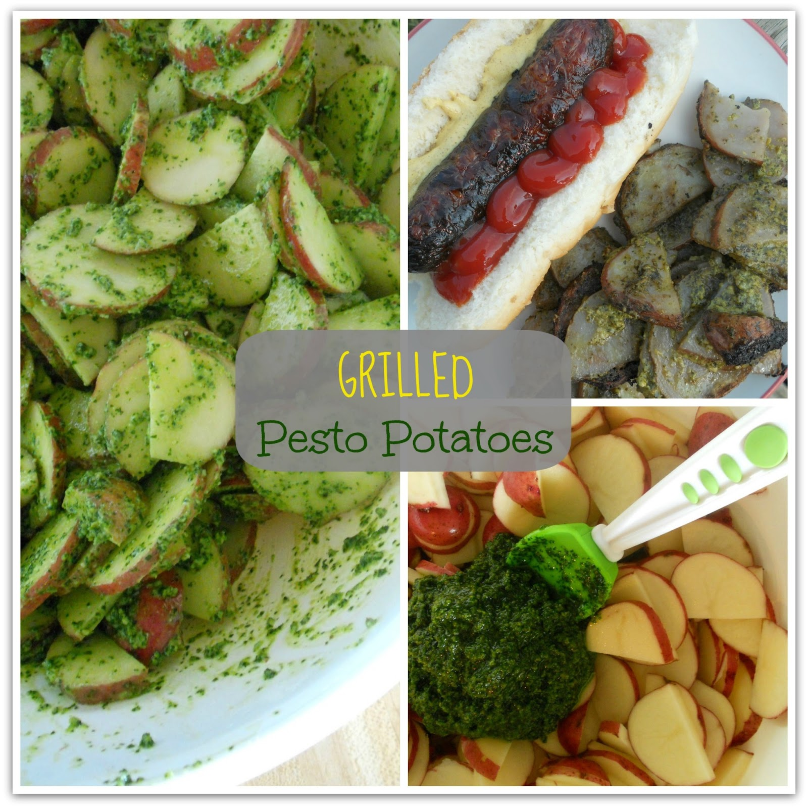 Ally's Sweet and Savory Eats: Grilled Pesto Potatoes