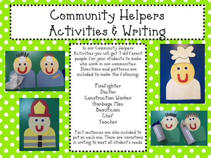 Mrs. Mayas' Kindergarten: Community Helpers & a FREEBIE