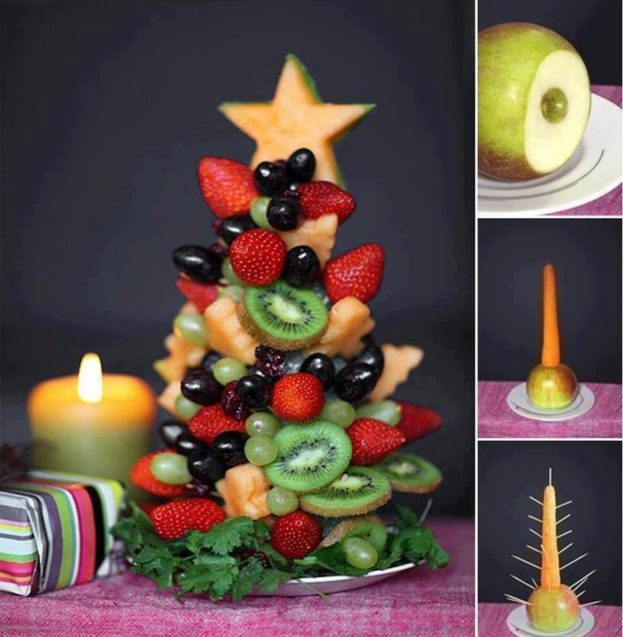 Подарок из фруктов своими руками