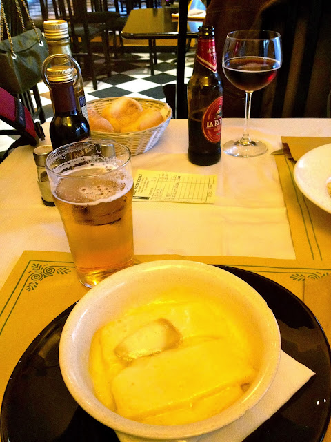 Image of polenta with cheese. Bergamo, Italy.