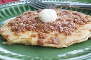 Cinnamon Streusel Pancakes - Oh Sweet Basil