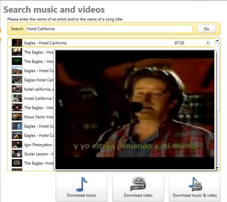 Tìm kiếm và download file ca khúc riêng lẻ từ Youtube