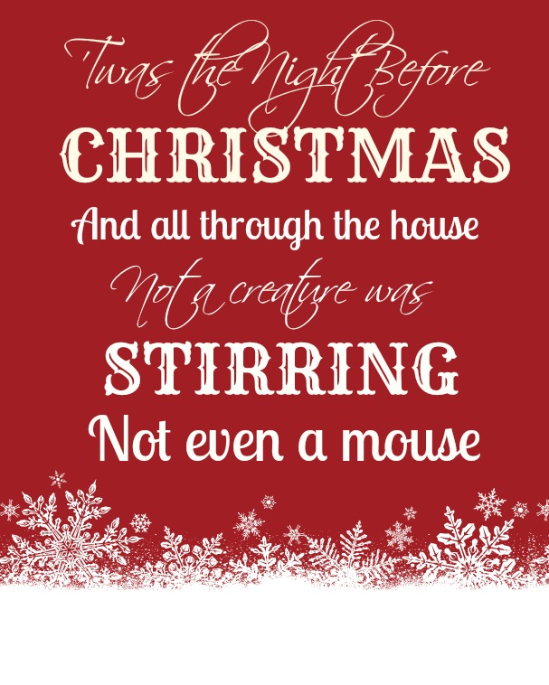 Twas The Night Before Christmas Printable | New Calendar Template Site