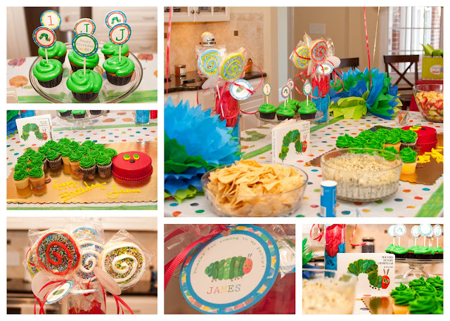 The Very Hungry Caterpillar First Birthday Party by The Thrifty Abode